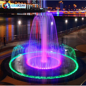 Customized Round Shape Dry Floor Fountain