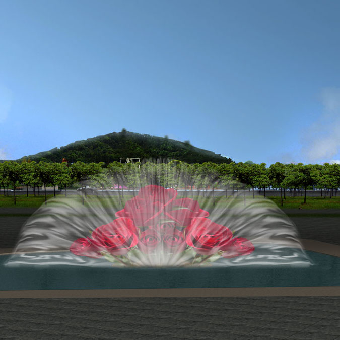 Outdoor Multimedia Software Music Dancing Water Fountain with Water Screen Movie