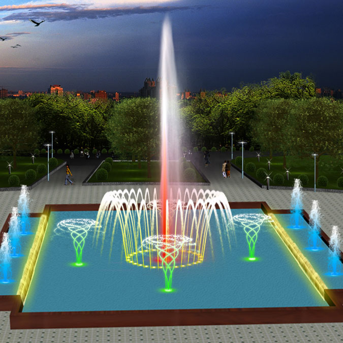 Saudi Music dancing water fountain