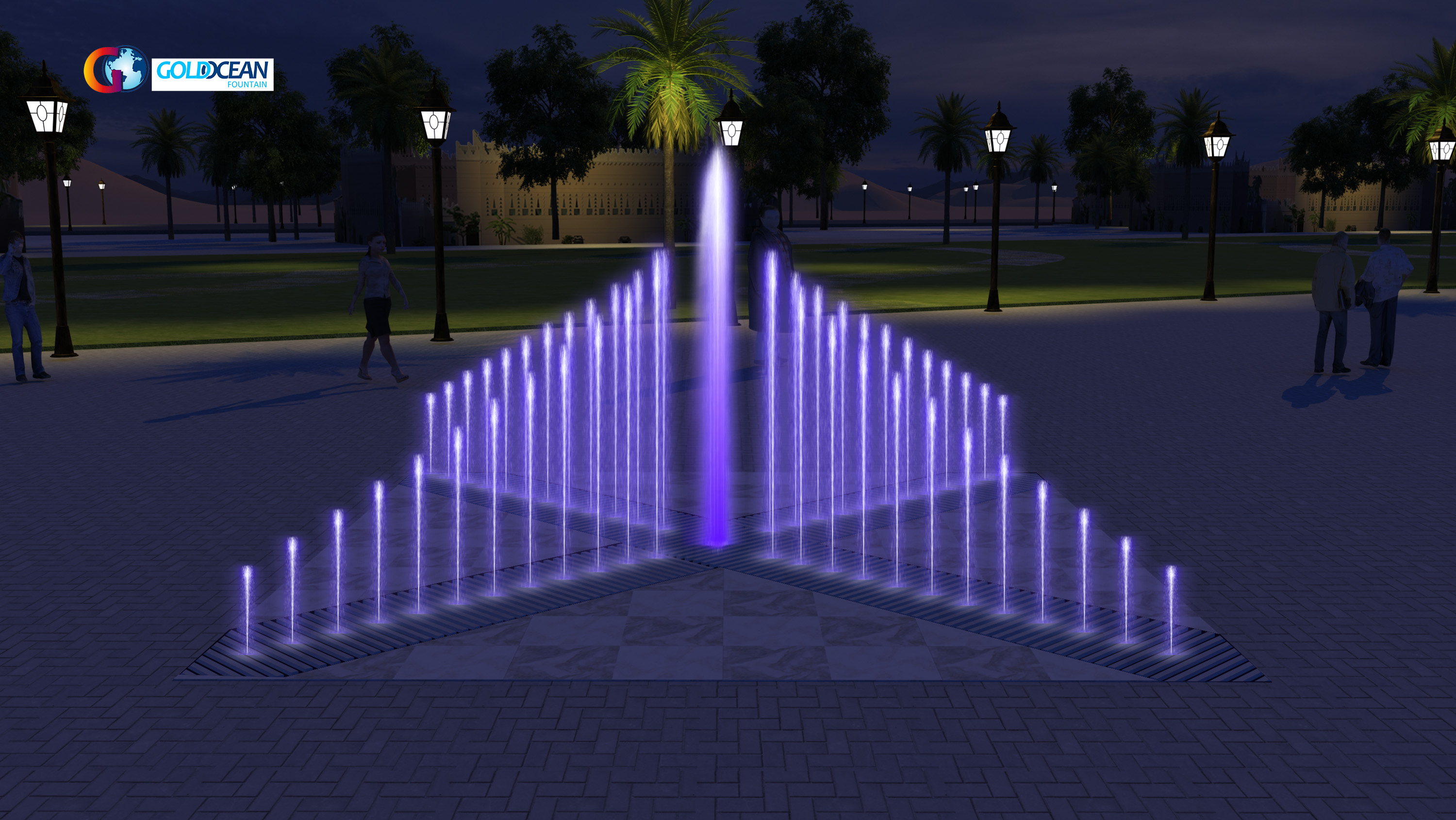 Outdoor play Fountain for square and garden dry fountain design