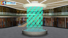 Mall Decoration Customized Graphic Type Digital Water Curtain