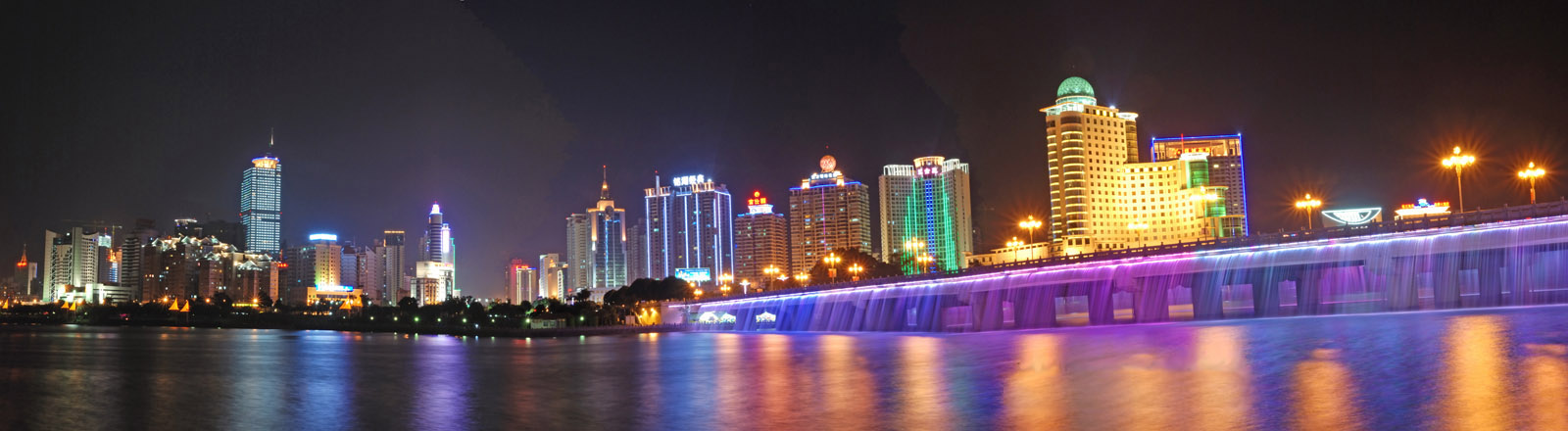 Nanhu Bridge Waterfall