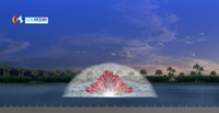 Outdoor Large Floating 3D Multicolored Water Screen Laser Movie Fountain for Projector