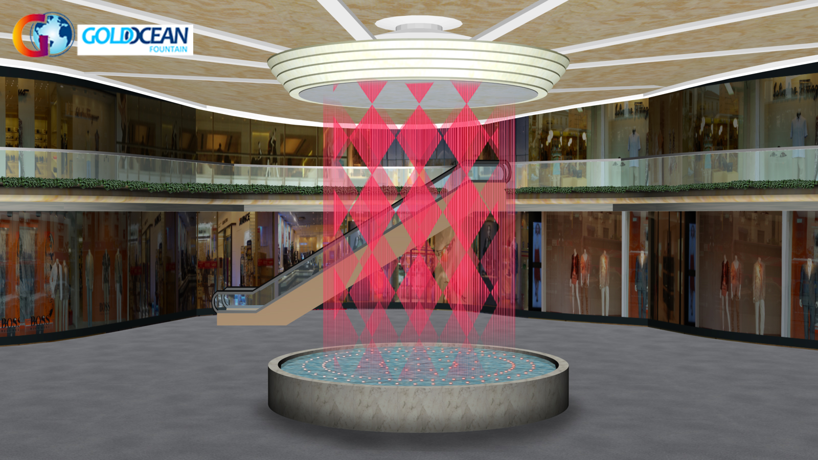 Outdoor Special Design Writing Graphic Water Curtain