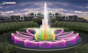 Stainless Steel 304 RGB Lights Music Fountain round shape fountain