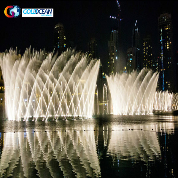 LED Lights Colorful Floating Fountain for Lake