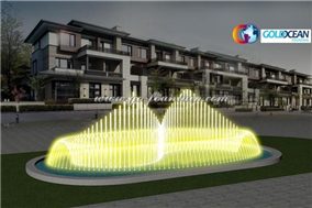 16x8m Oval Shape Music Dancing Fountain